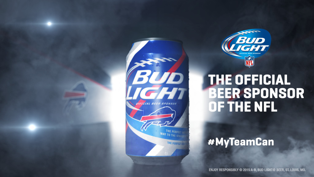 Buffalo Bills Bud Light Can