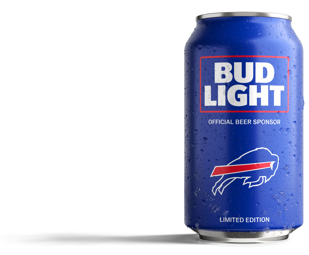 bills fans bud light has created a can just for you sports. Black Bedroom Furniture Sets. Home Design Ideas